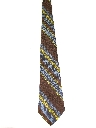 Mens Wide Diagonal Disco Necktie