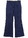 Womens Embroidered Bellbottom Denim Jeans Pants