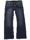 Womens Wicked 90s Flared Leg Denim Jeans Pants