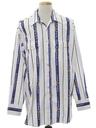Mens Southwestern Print Western Shirt