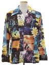 Mens Photo Print Disco Shirt