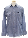 Mens Chambray Western Hippie Shirt