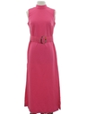 Womens Mod Knit Maxi Dress