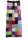 Womens Patchwork Maxi Hippie Skirt
