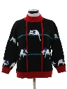 Womens Totally 80s Cat Sweater