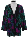 Womens Totally 80s Oversized Cardigan Sweater