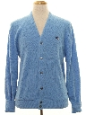 Mens Totally 80s Preppy Cardigan Sweater