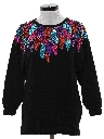 Womens Totally 80s Sequined Cocktail Sweater