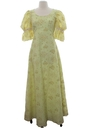 Womens Maxi Hippie Prairie Dress