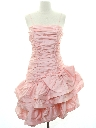 Womens Totally 80s Pretty in Pink Style Prom Or Cocktail Mini Dress