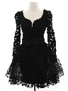 Womens Designer Totally 80s Goth Style Prom Or Cocktail Dress