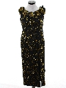 Womens Beaded Totally 80s Prom Or Cocktail Maxi Dress