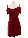 Womens Wicked 90s Velvet Mini Prom Or Cocktail Dress