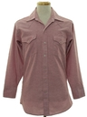 Mens Solid Western Shirt