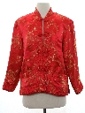 Womens Reversible Cheongsam Asian Style Satin Jacket