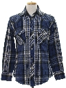 Mens Plaid CPO Style Shirt Jacket