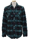 Mens Plaid Flannel Western Shirt