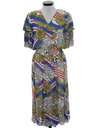 Womens Designer Totally 80s Dress