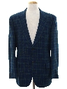 Mens Mod Plaid Wool Blazer Sport Coat Jacket
