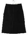 Womens Totally 80s Suede Leather Skirt
