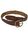 Womens Accessories - Woven Leather Belt