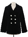 Womens Velvet Pea Coat Jacket