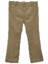 Mens Flared Western Style Leisure Jeans-Cut Pants