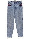 Womens Totally 80s Style Stone Washed Denim Jeans Pants