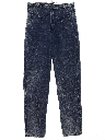 Womens Totally 80s Style Acid Washed Tapered Leg Denim Jeans Pants