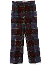 Womens Plaid Flared Wool Pants