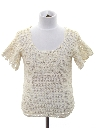 Womens/Girls Crocheted Lightweight Knit Sweater Shirt