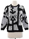 Womens Totally 80s Op-Art Sweater