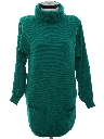 Womens Totally 80s Style Sweater Dress