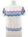 Womens Crocheted Knit Shirt