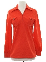 Womens Knit Western Shirt