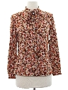 Womens Print Secretary Shirt