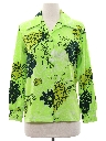 Womens Print Disco Style Hawaiian Shirt