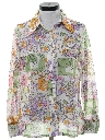 Womens Print Disco Shirt