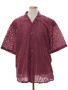 Mens Totally 80s Sheer Sport Shirt