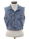 Womens Wicked 90s Cropped Denim Vest