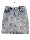 Womens Acid Washed Denim Skirt