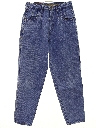 Womens Wide Tapered Leg Denim Jeans Pants