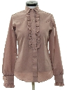 Womens Ruffled Western Shirt