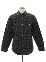 Mens Western Style Flannel Shirt Jacket