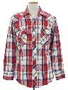 Mens Plaid Western Shirt