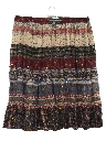 Womens Hippie Broomstick Skirt