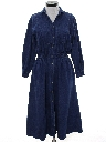 Womens Wicked 90s Maxi Denim Dress