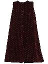Womens Velvet Maxi Skirt