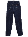 Womens Embroidered Denim Jeans Pants
