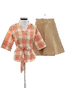 Womens Matching Shirt And Skirt Set